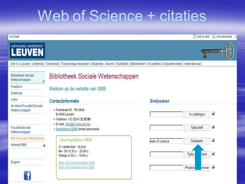 Web of Science + citaties
