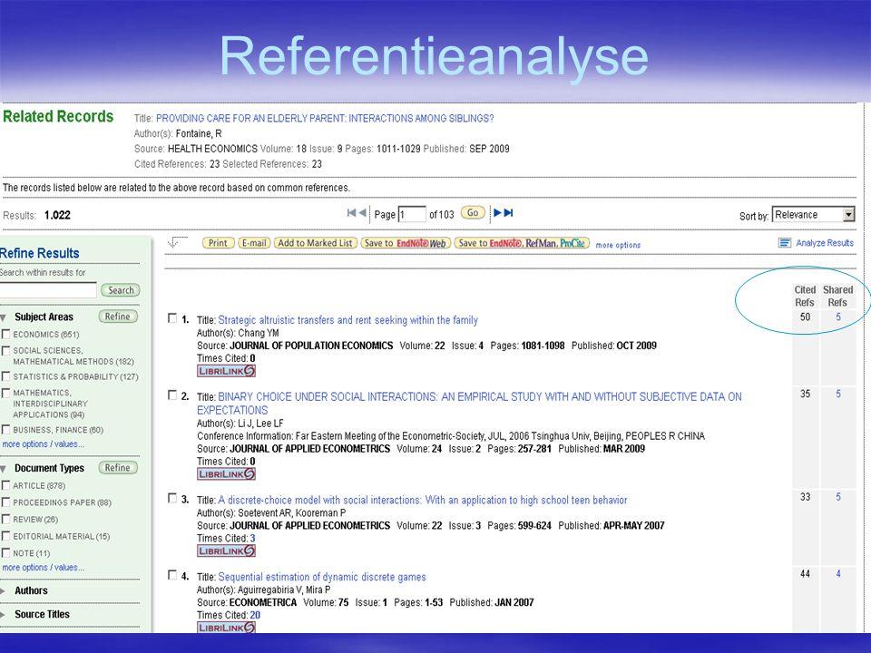 Referentieanalyse
