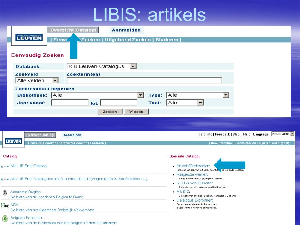 LIBIS: artikels