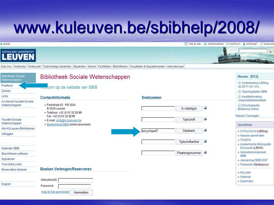 www.kuleuven.be/sbibhelp/2008/