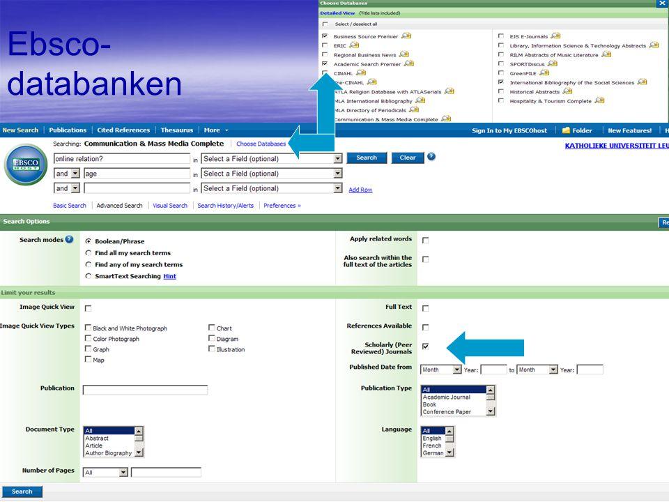 Ebsco- databanken