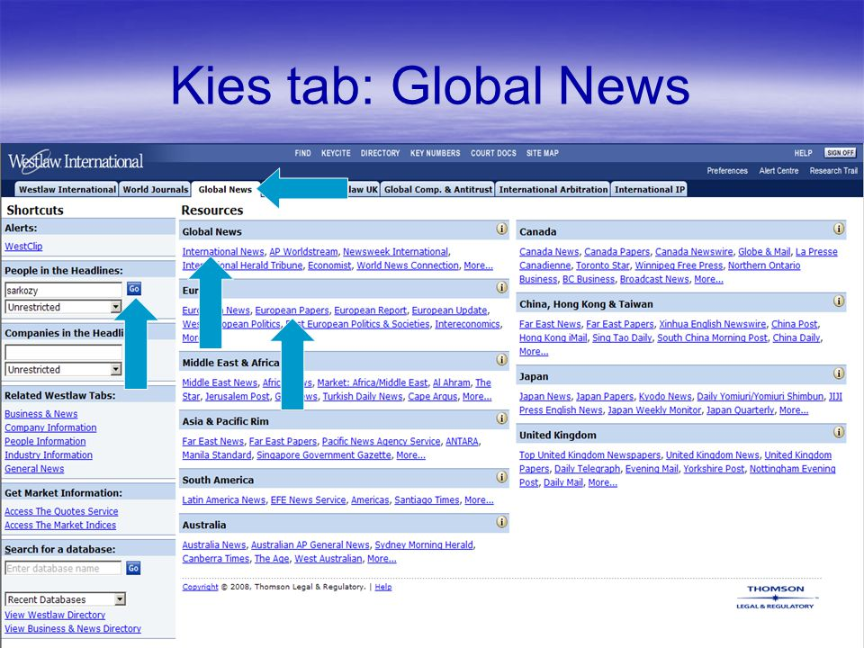 Kies tab: Global News
