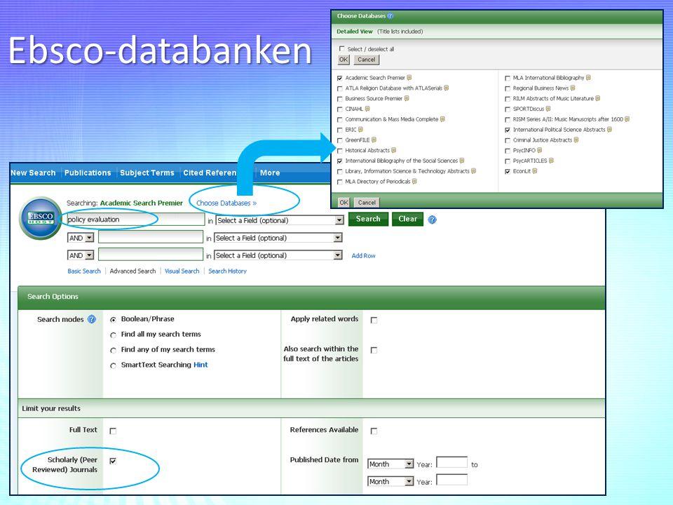 Ebsco-databanken
