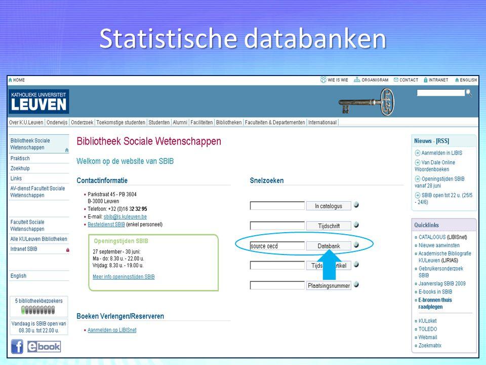 Statistische databanken