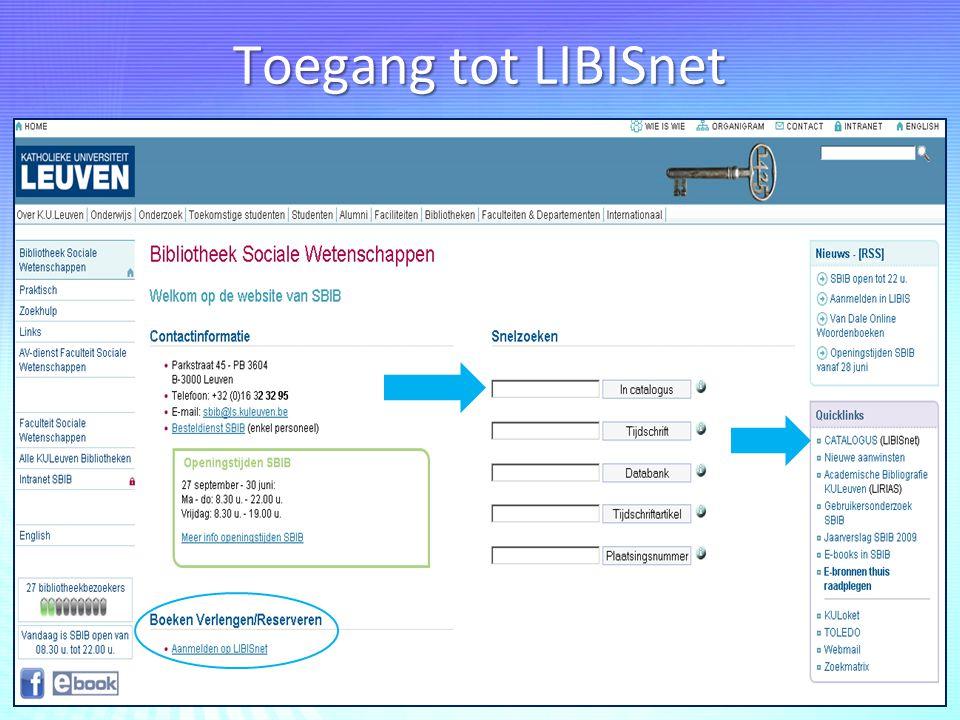 Toegang tot LIBISnet