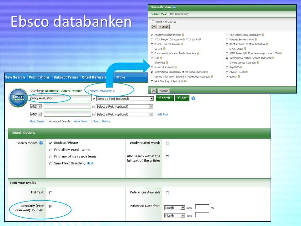 Ebsco databanken