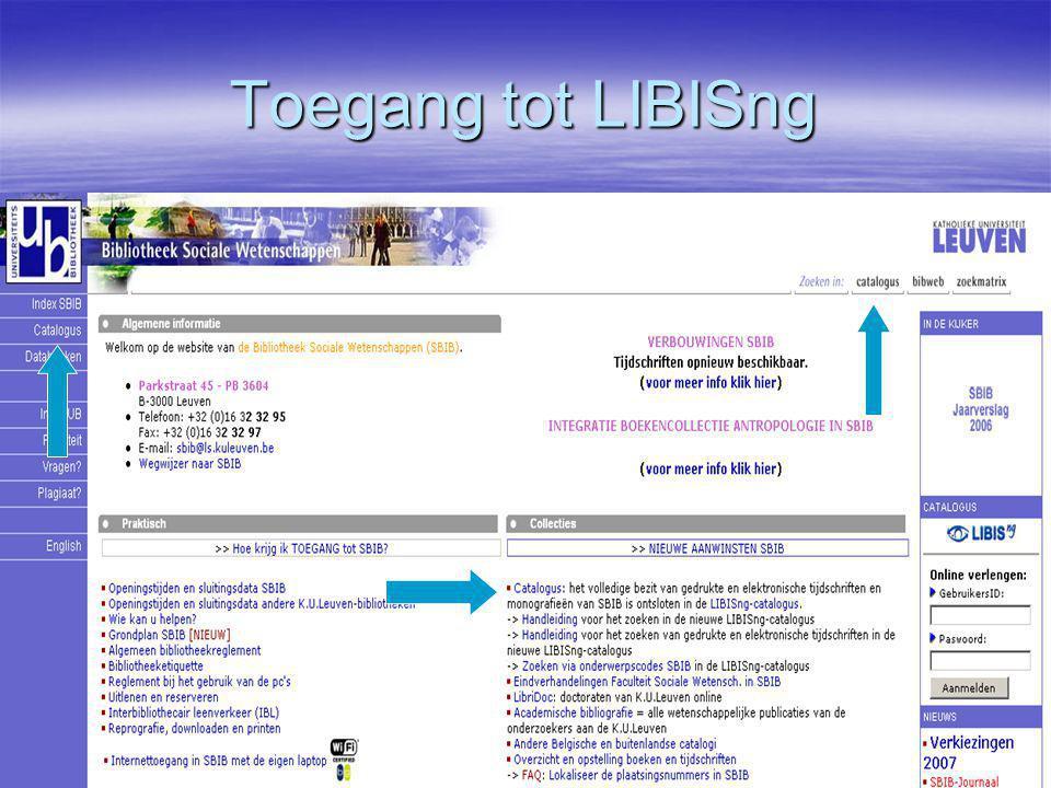 Toegang tot LIBISng