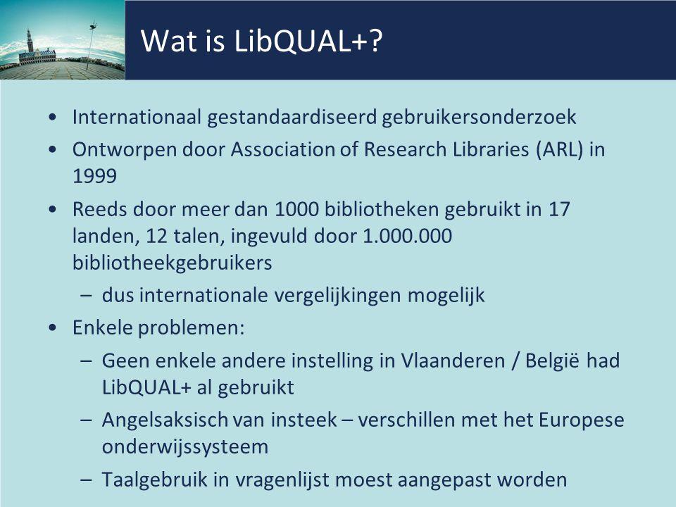 Wat is LibQUAL+.