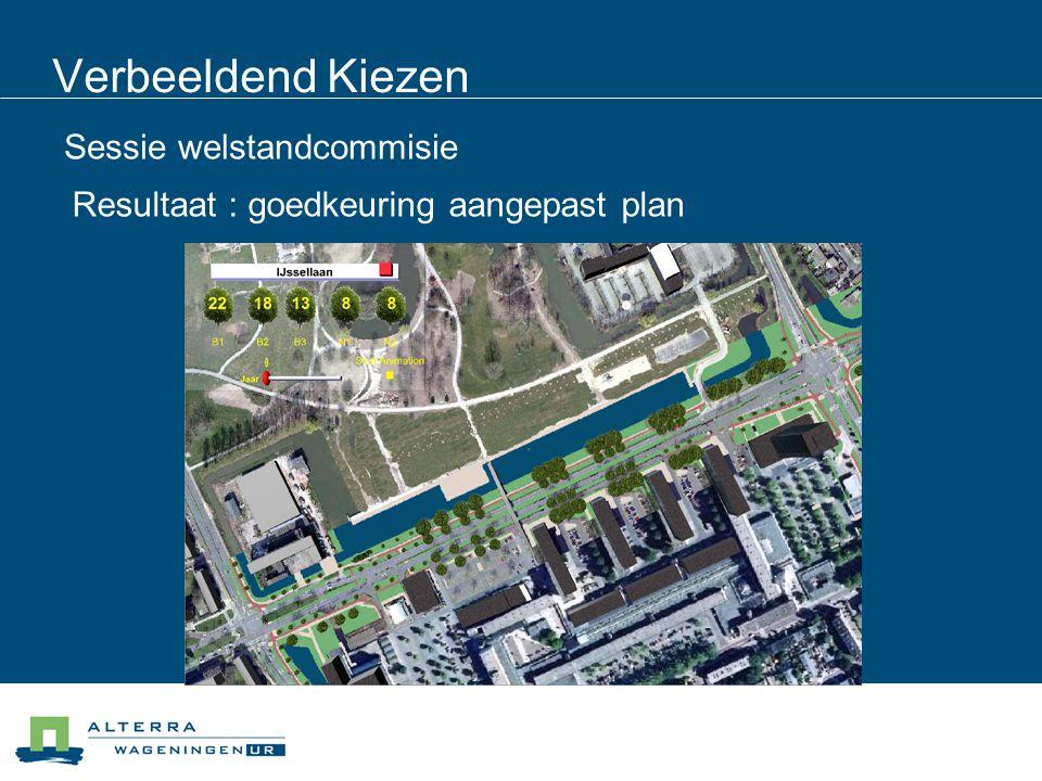 Verbeeldend Kiezen Sessie welstandcommisie Resultaat : goedkeuring aangepast plan