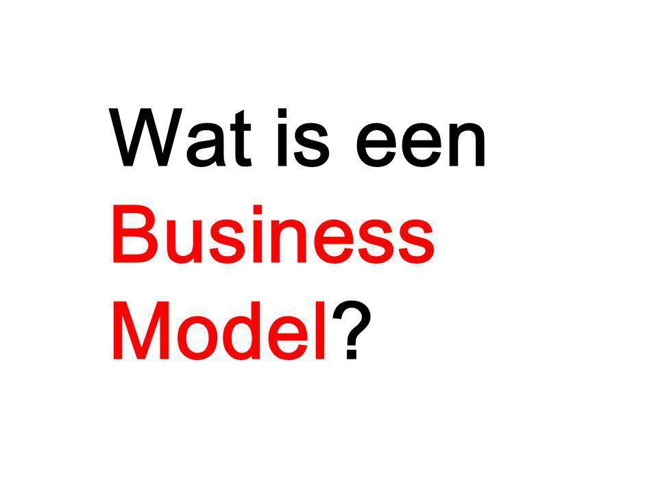 Een Business Model beschrijft hoe een organisatie waarde creëert, levert en toevoegt op een rationele manier