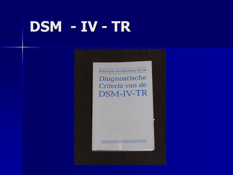 DSM - IV - TR