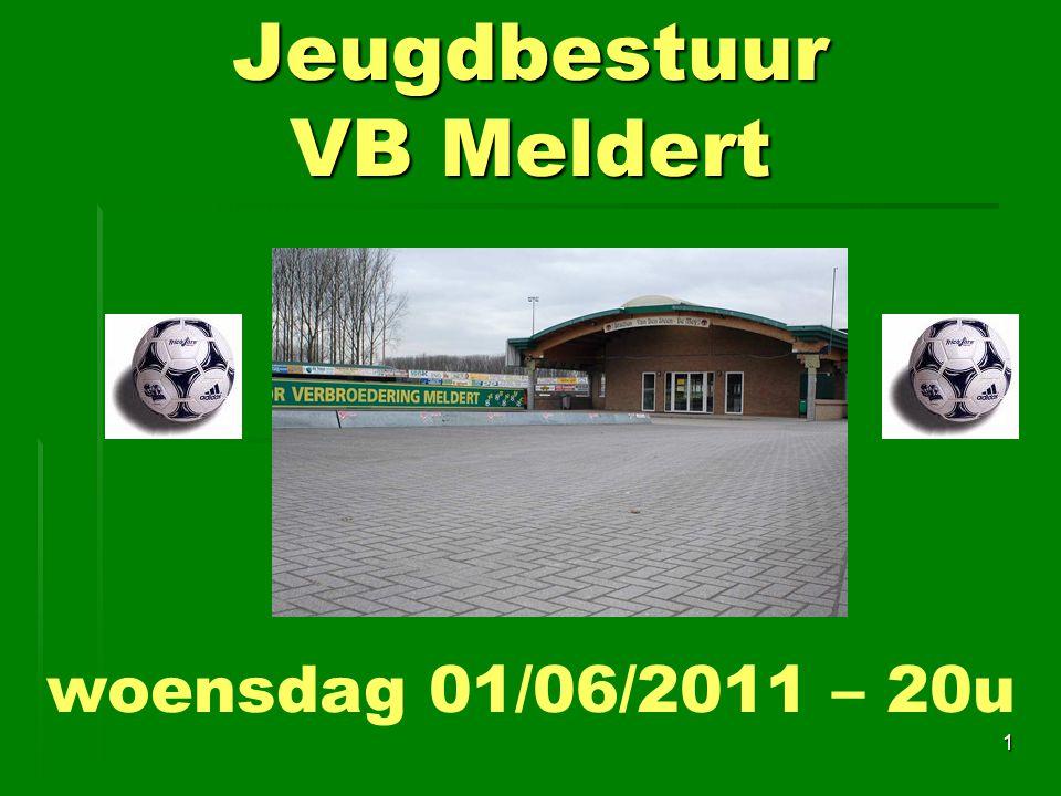 Jeugdbestuur VB Meldert 1 woensdag 01/06/2011 – 20u