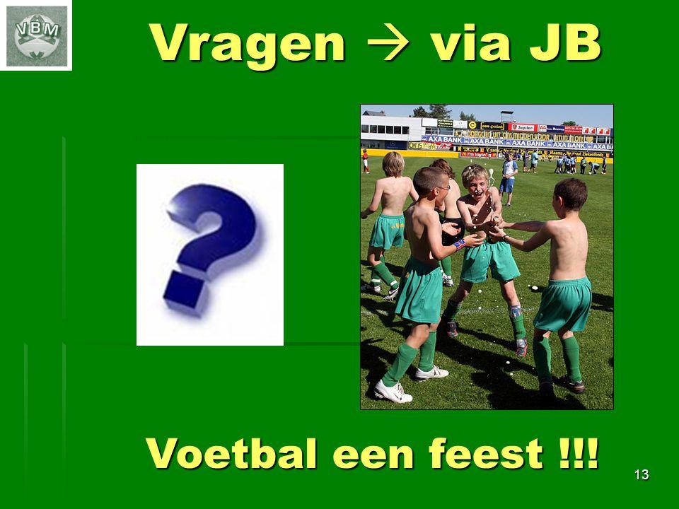 13 Vragen  via JB Voetbal een feest !!!