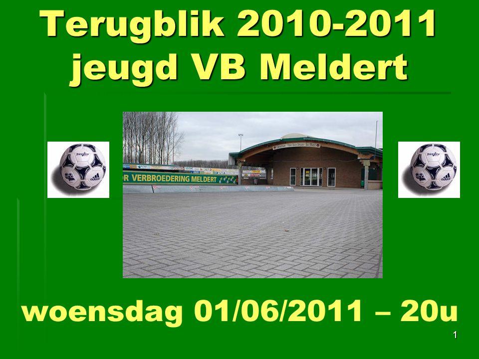 Terugblik 2010-2011 jeugd VB Meldert 1 woensdag 01/06/2011 – 20u