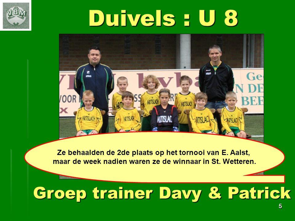 6 Duivels : U 9 Groep trainer Angelo & Noëlla - Ira Werden dit jaar uitgenodigd op de Coca-Cola-Cup in Lede en ze konden van alle voetbalproeven doen en vonden dit zéér leuk.