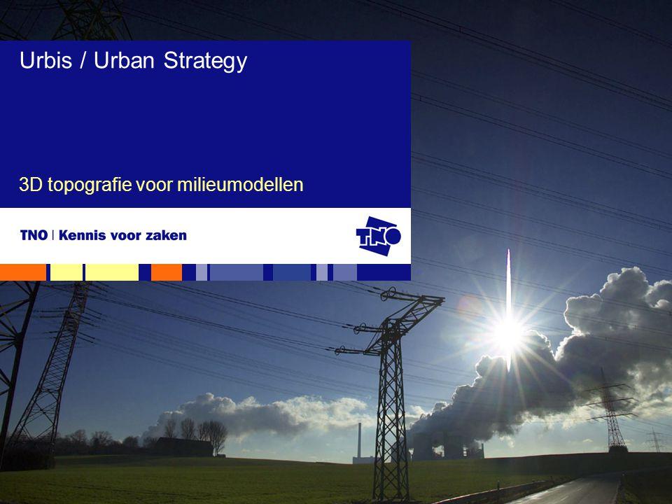 3D topografie voor milieumodellen Urbis / Urban Strategy