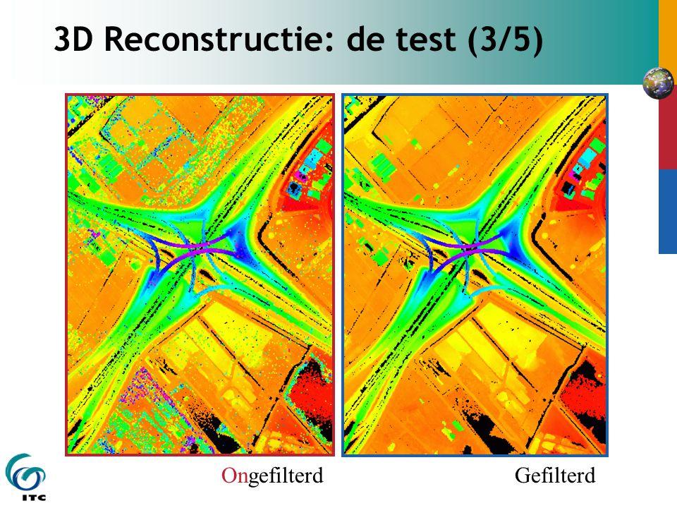 3D Reconstructie: de test (3/5) OngefilterdGefilterd