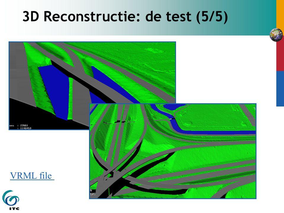 3D Reconstructie: de test (5/5) VRML file