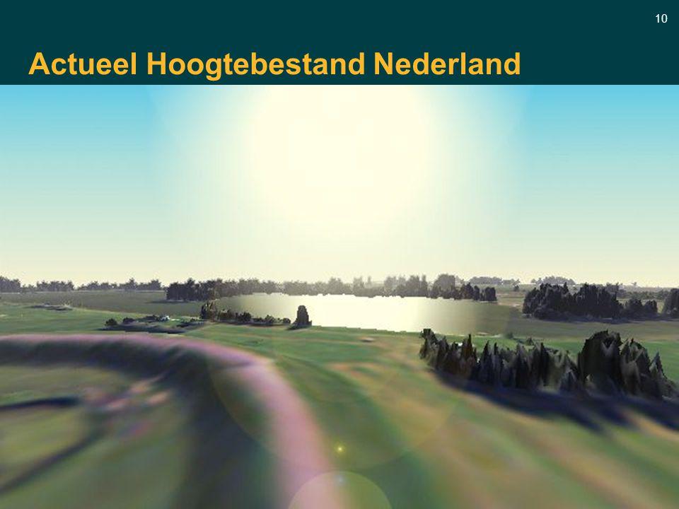 10 Actueel Hoogtebestand Nederland Samenwerkingsverband tussen provincies waterschappen en RWS