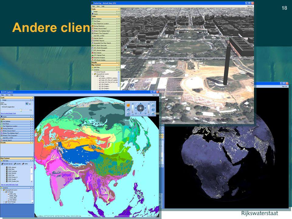 18 Andere clients: Arc GIS Explorer