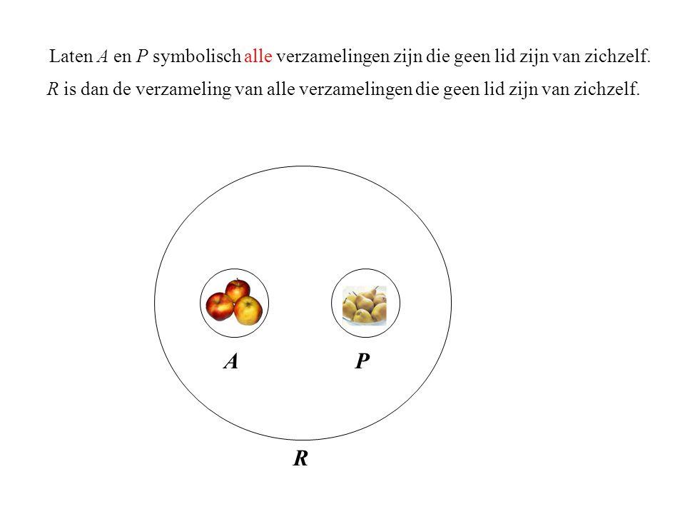 Laten A en P symbolisch alle verzamelingen zijn die geen lid zijn van zichzelf.