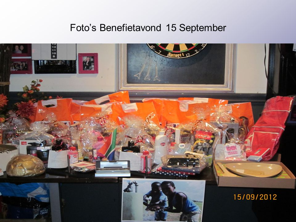 Foto's Benefietavond 15 September