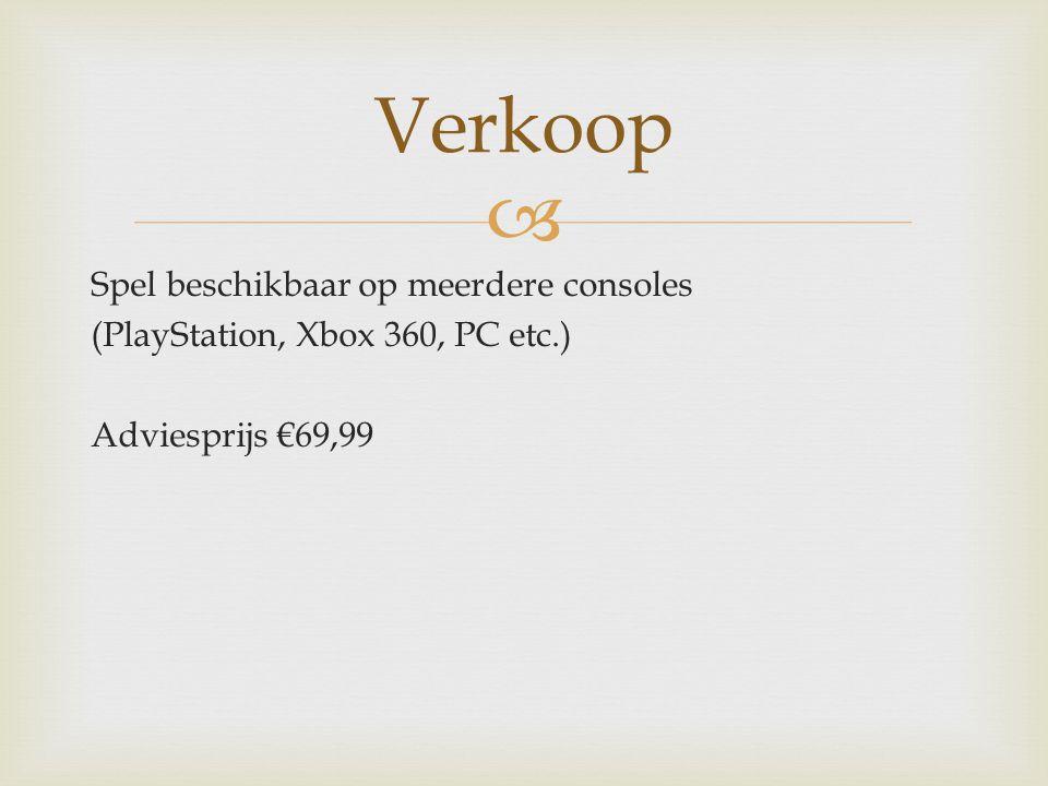  Spel beschikbaar op meerdere consoles (PlayStation, Xbox 360, PC etc.) Adviesprijs €69,99 Verkoop