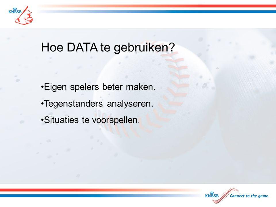 Hoe DATA te gebruiken? Eigen spelers beter maken. Tegenstanders analyseren. Situaties te voorspellen.