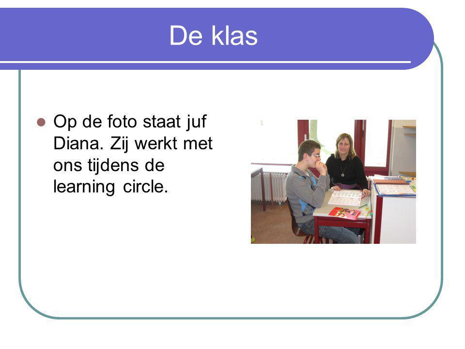 De klas Op de foto staat juf Diana. Zij werkt met ons tijdens de learning circle.