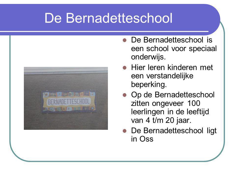 De Bernadetteschool De Bernadetteschool is een school voor speciaal onderwijs.