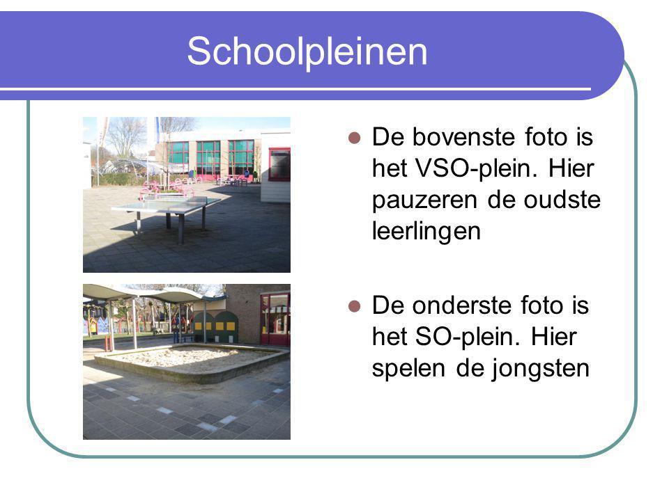 Schoolpleinen De bovenste foto is het VSO-plein.
