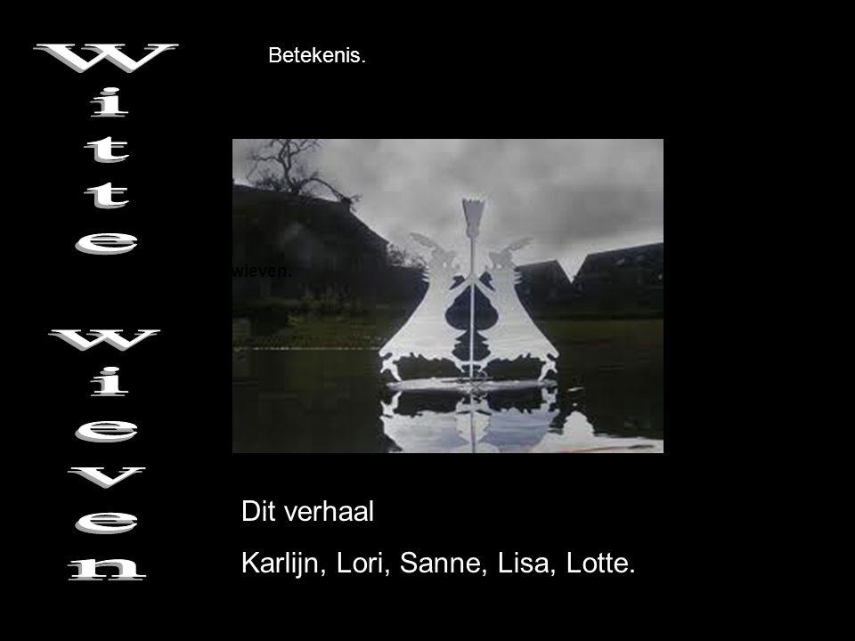 De betekenis van de witte wieven. Dit verhaal Karlijn, Lori, Sanne, Lisa, Lotte. Betekenis.