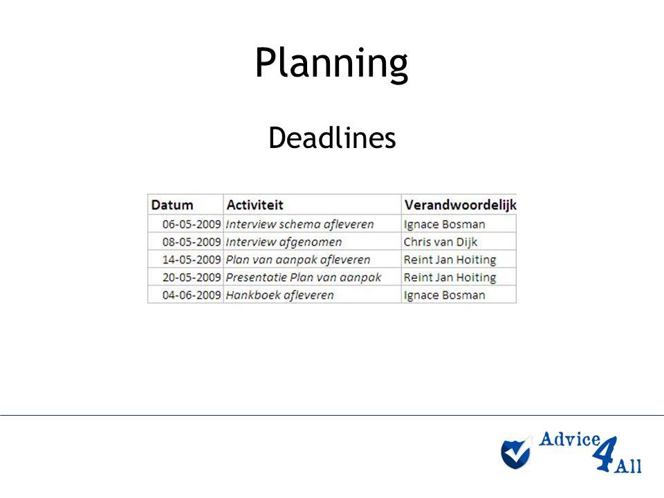 Planning Deadlines