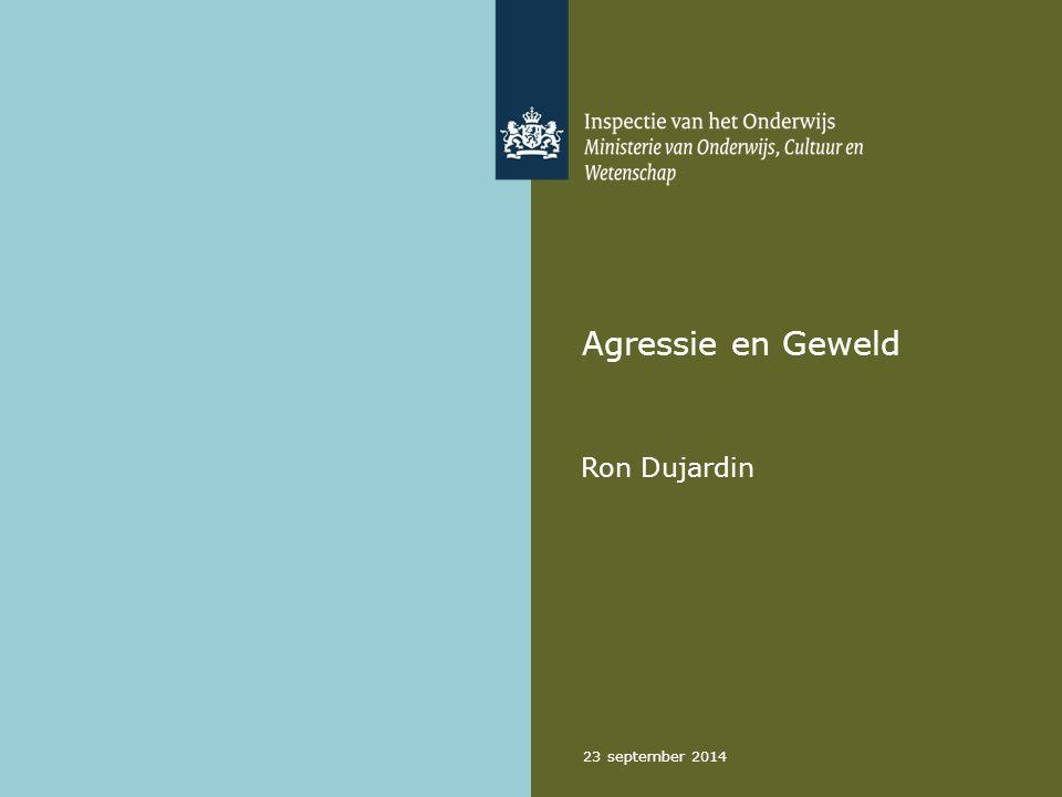 23 september 2014 Agressie en Geweld Ron Dujardin