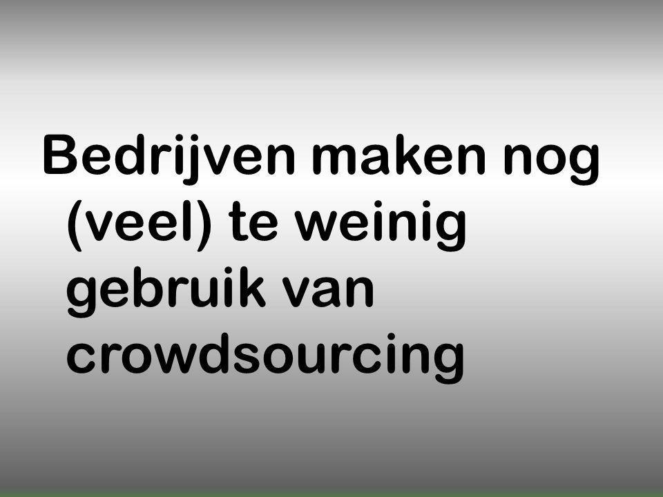 Bedrijven maken nog (veel) te weinig gebruik van crowdsourcing
