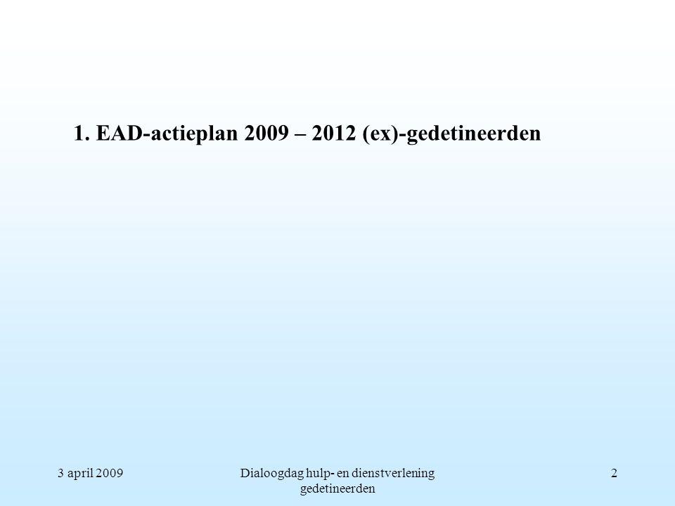 3 april 2009Dialoogdag hulp- en dienstverlening gedetineerden 2 1.