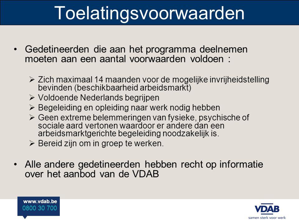 www.vdab.be 0800 30 700 Aan de bak Het realiseren van de algemene doelstelling van de VDAB : Het garanderen van het recht van elke werkzoekende op een