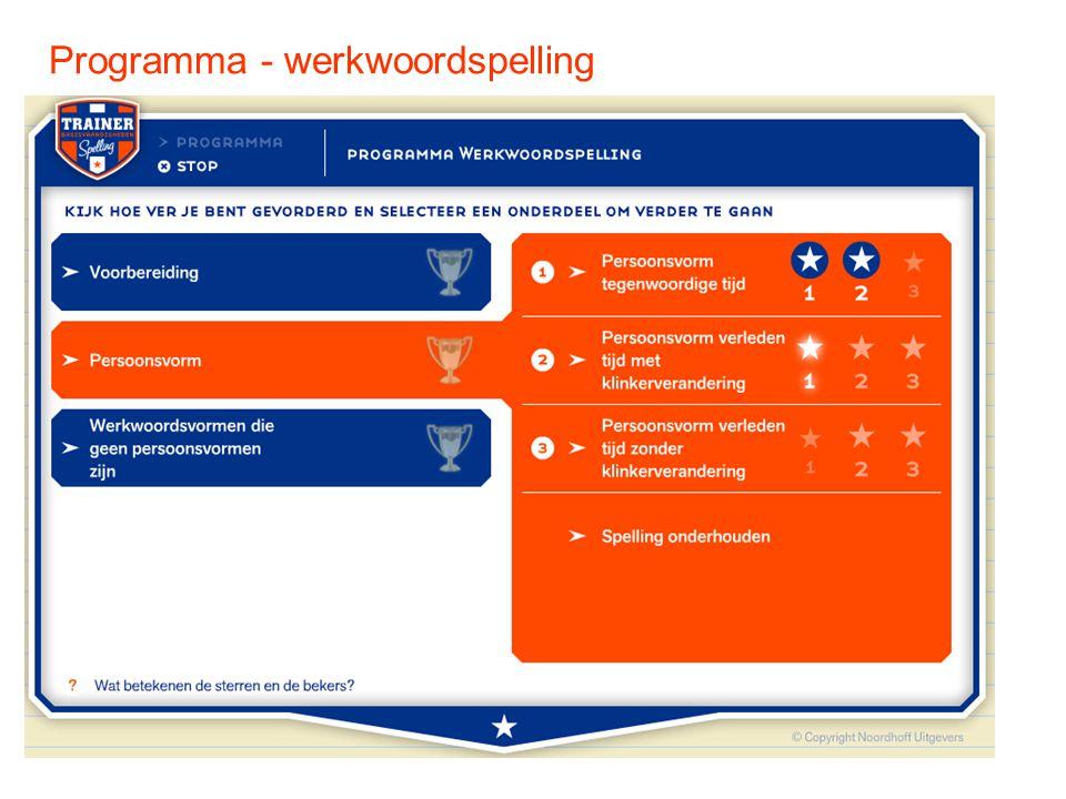 Programma - werkwoordspelling