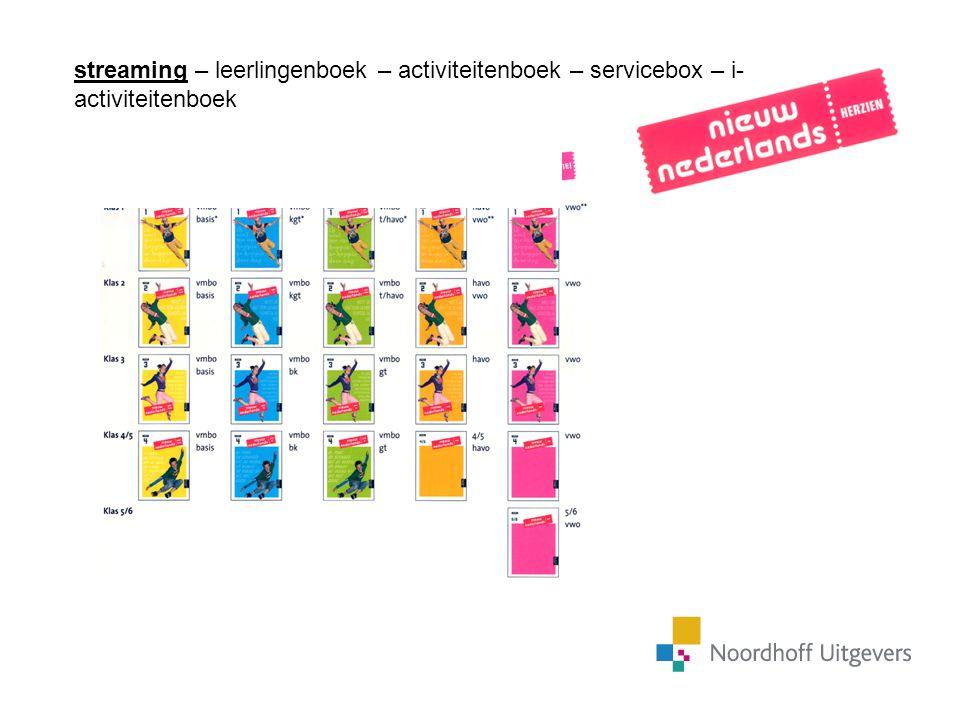 streaming – leerlingenboek – activiteitenboek – servicebox – i- activiteitenboek