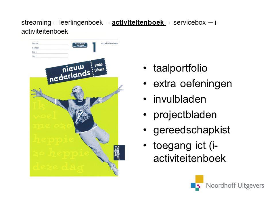 taalportfolio extra oefeningen invulbladen projectbladen gereedschapkist toegang ict (i- activiteitenboek