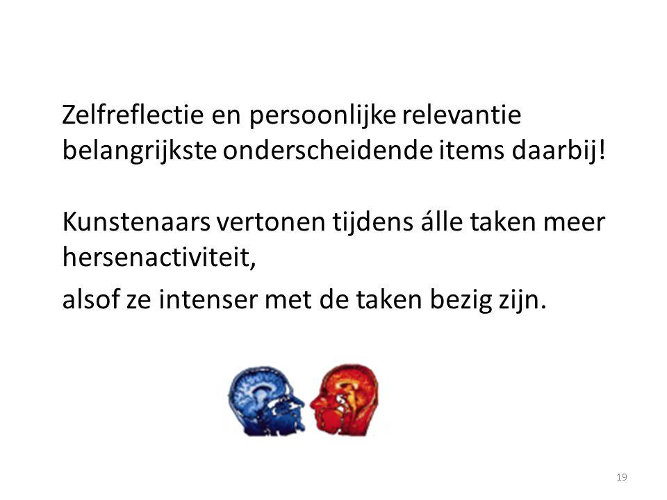 Zelfreflectie en persoonlijke relevantie belangrijkste onderscheidende items daarbij.