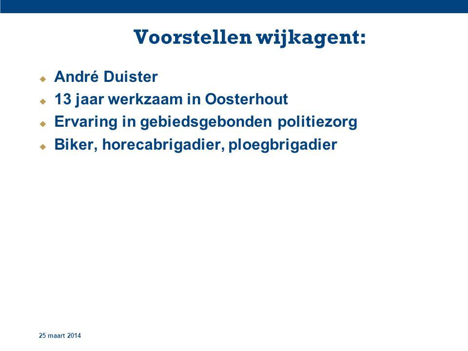 25 maart 2014 Nationale Politie:
