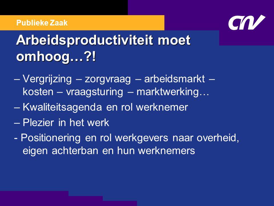 Arbeidsproductiviteit moet omhoog… .