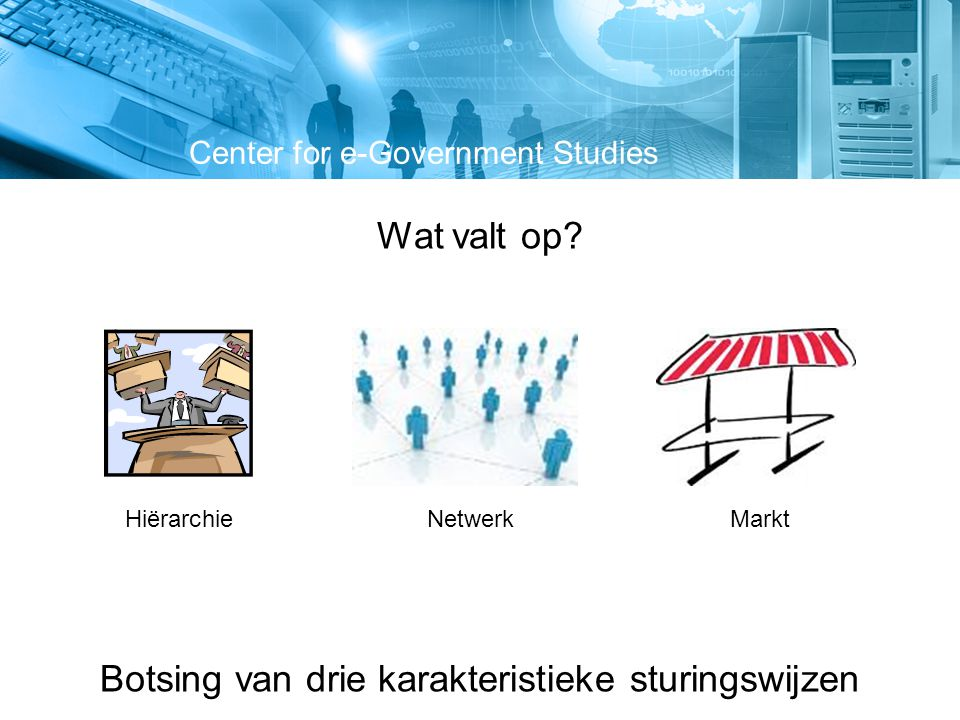 Nieuw besturingsmodel: Wat is een optimale sturingsmix om een samenwerking succesvol te laten zijn.