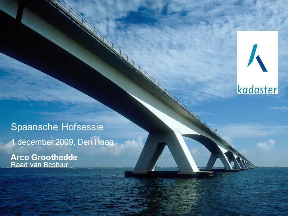 1 december 2009, Den Haag Arco Groothedde Raad van Bestuur Spaansche Hofsessie