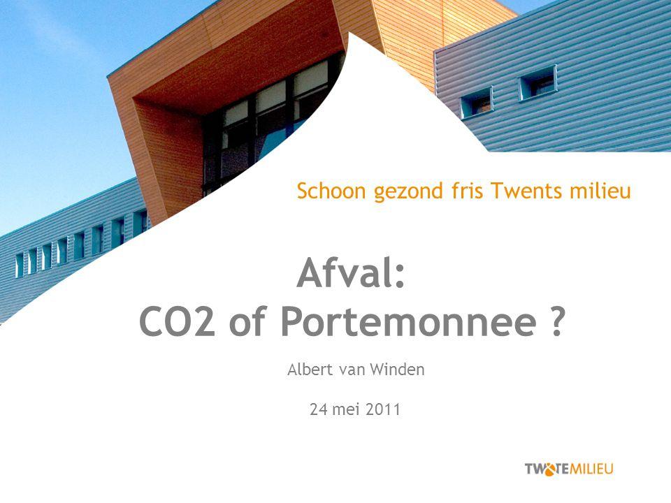 Schoon gezond fris Twents milieu Afval: CO2 of Portemonnee Albert van Winden 24 mei 2011