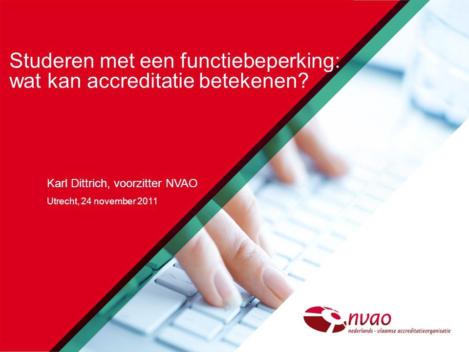 INSTELLINGSAUDIT ja nee positiefnegatief beperkte opleidingsbeoordelinguitgebreide opleidingsbeoordeling 2 NVAO -Studeren met een functiebeperking:wat kan accreditatie betekenen -november 2011