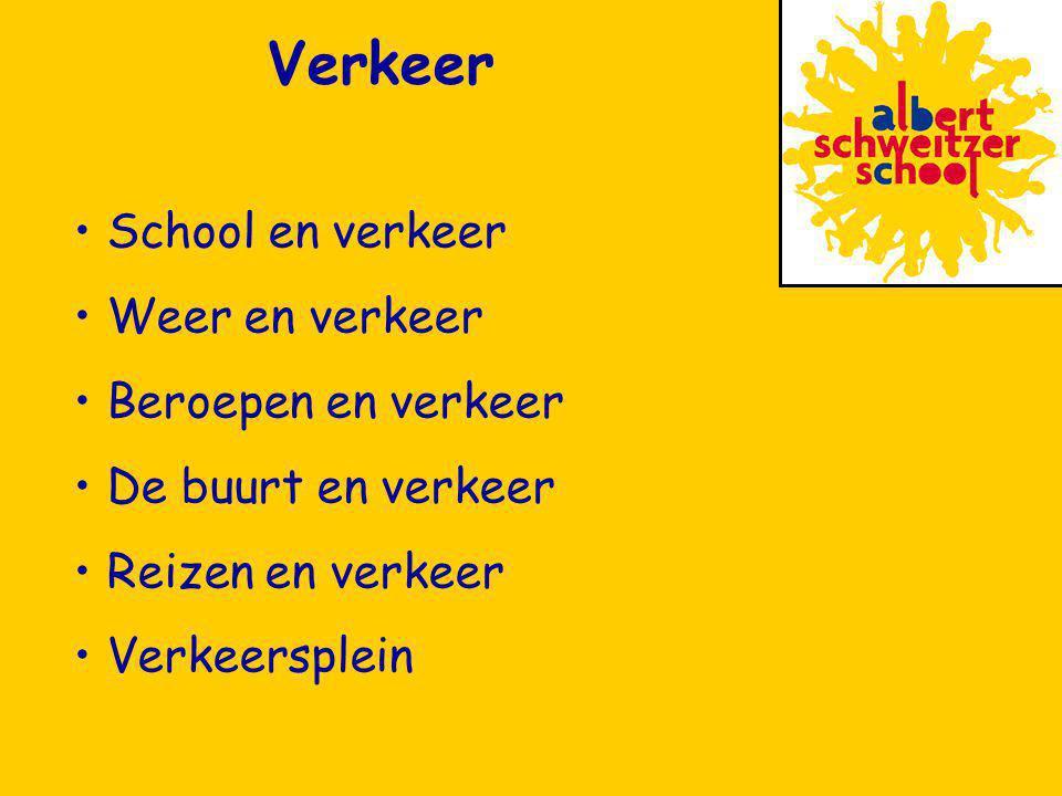 School en verkeer Weer en verkeer Beroepen en verkeer De buurt en verkeer Reizen en verkeer Verkeersplein Verkeer