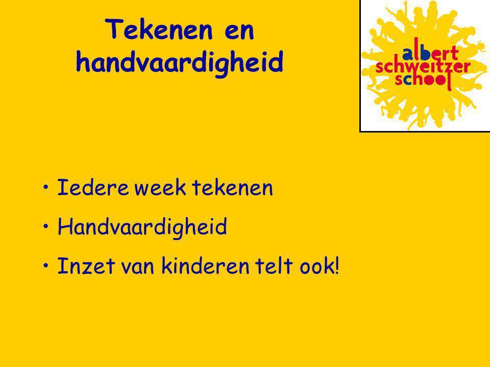 Iedere week tekenen Handvaardigheid Inzet van kinderen telt ook! Tekenen en handvaardigheid