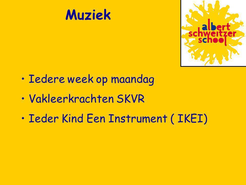 Iedere week op maandag Vakleerkrachten SKVR Ieder Kind Een Instrument ( IKEI) Muziek